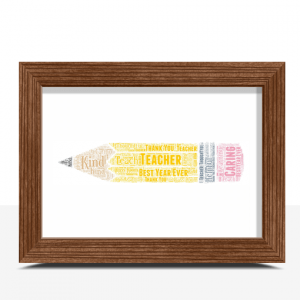 Graduation Gifts Pencil Word Art Print