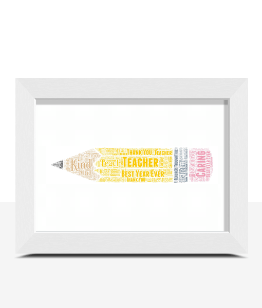 Pencil Word Art Print