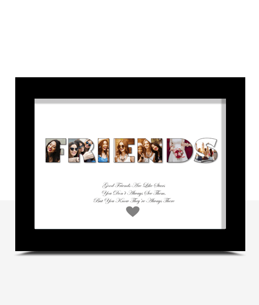 Gifts For Friends Personalised FRIENDS Photo Gift Print