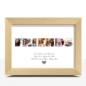 FRIENDS Photo Word Print Gift