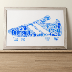 Football Boot Word Art Print