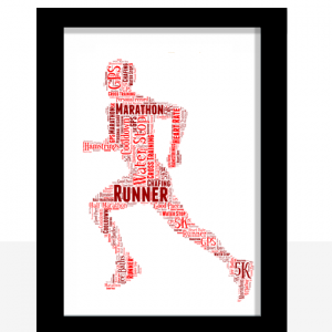Running Man Word art Print