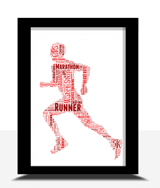 Gifts For Him Running Man Word Art Print