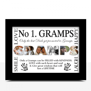 Fathers Day Gifts No 1 GRAMPS Personalised Photo Gift