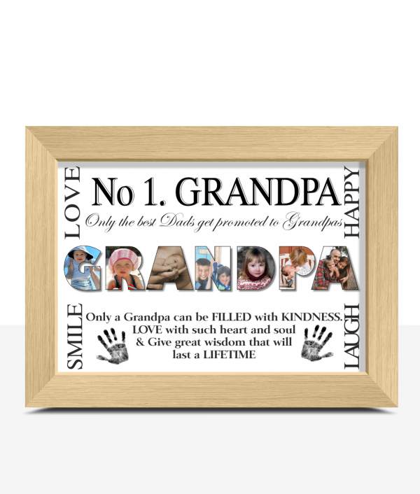 Fathers Day Gifts No 1 GRANDPA Personalised Photo Gift
