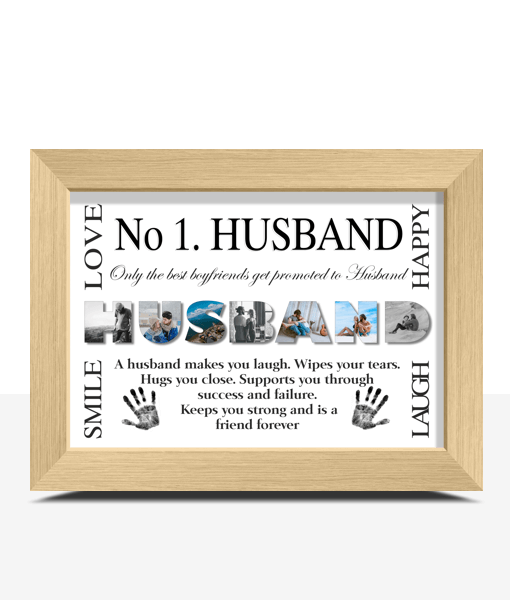 Fathers Day Gifts No 1 Husband Personalised Photo Gift