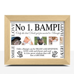 Fathers Day Gifts No 1 BAMPI Personalised Photo Gift