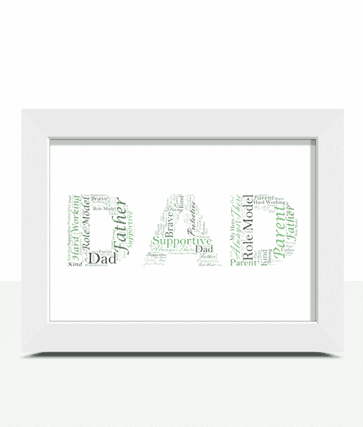 Fathers Day Gifts DAD Word Art Print – Father's Day Gift