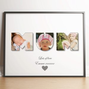 Gifts For Her MUM Photo Word Art Gift