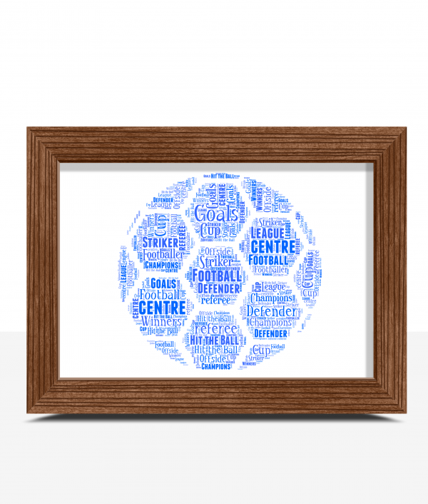 Fathers Day Gifts Personalised Football Word Art
