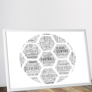 Personalised Football Word Art