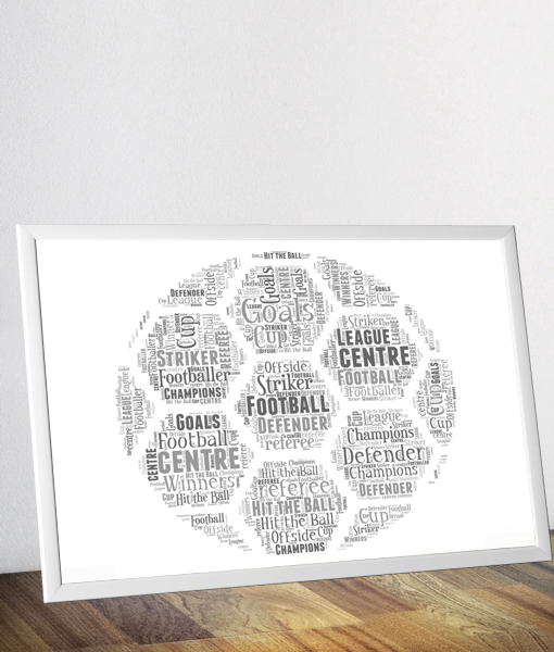 graphic relating to Printable Word Art known as Personalized Soccer Term Artwork