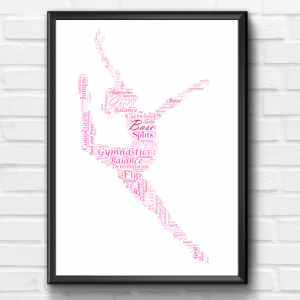 Gymnastics – Gymnast Word Art Print