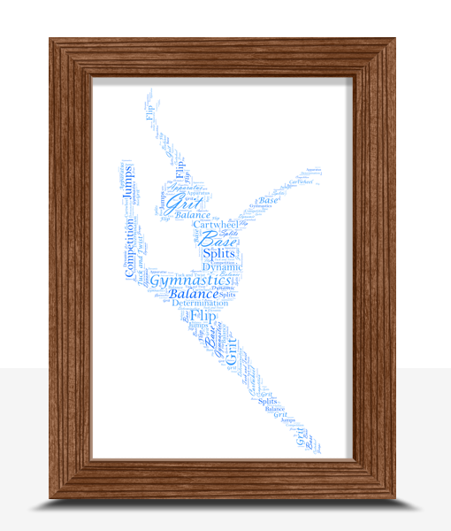 Dance Gymnastics – Gymnast Word Art Print