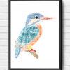 Personalised Kingfisher Word Art Print