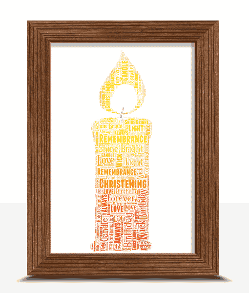 Candle Word Art Print
