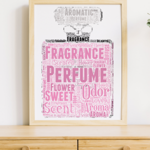 Pesonalised Perfume Bottle Word Art