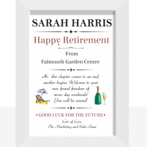 Happy Retirement Personalised Gift