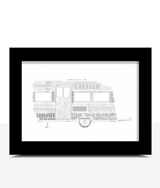 Travel Caravan Word Art Print