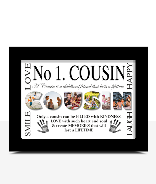 Family No 1 COUSIN Personalised Photo Print