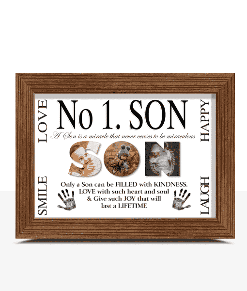Fathers Day Gifts No 1 Son Personalised Photo Gift