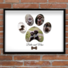 Animal Prints Personalised Pet Dog Paw Photo Print