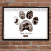 Personalised Pet Dog Paw Photo Print
