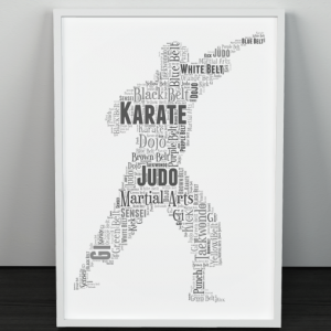 Martial Arts Word art Print