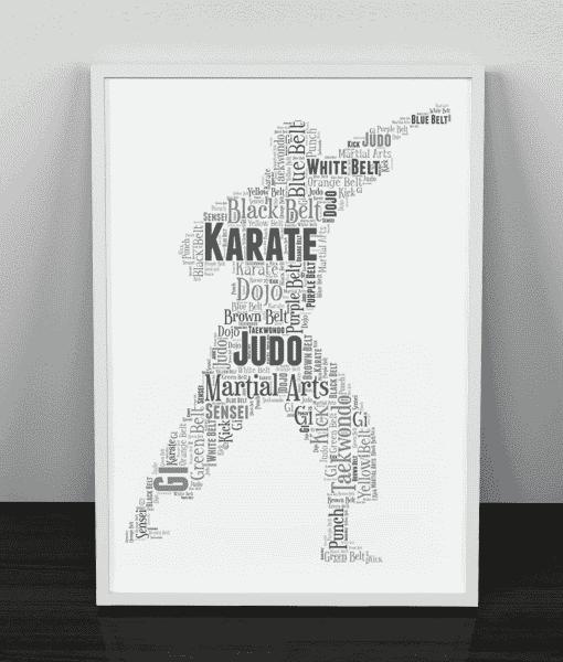 Martial Arts Word art Print Sport Gifts