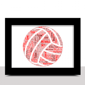 Sport Personalised Netball Word Art – Netball Player Gift