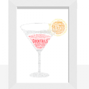Personalised Cocktail Glass Word Art