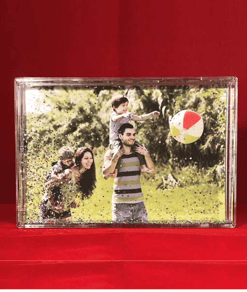 Christmas Photo Glitter Blocks