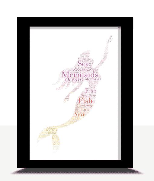Mermaid Word Art Print