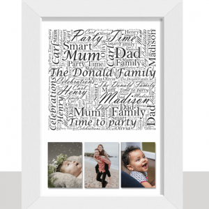 Family Word Art With Photos Family
