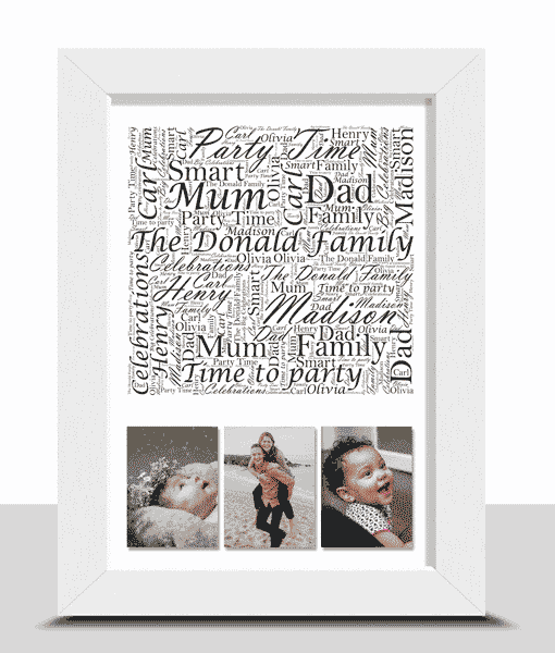 Family Family Word Art With Photos