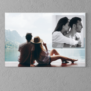 2 Photo Collage Canvas Print