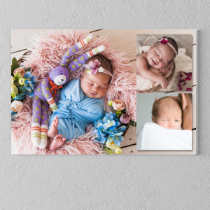 Photo Gifts 3 Photo Collage Canvas Print