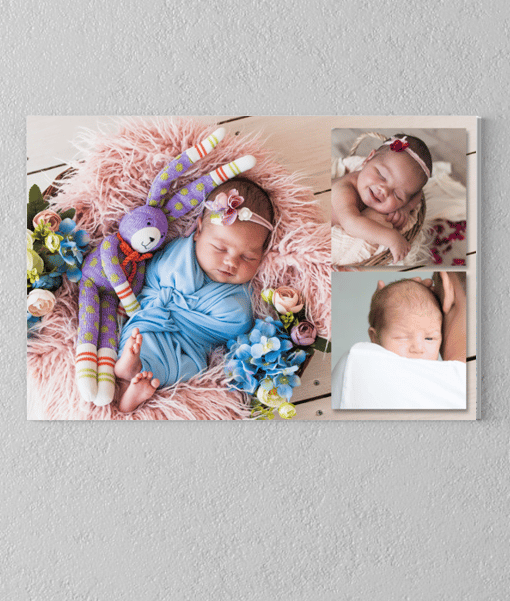 3 Photo Collage Canvas Print