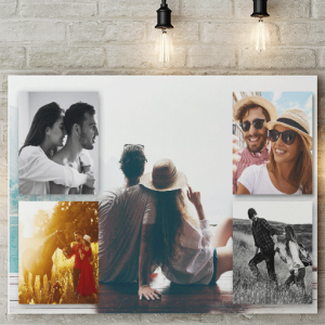 Photo Gifts 5 Photo Collage Canvas Print