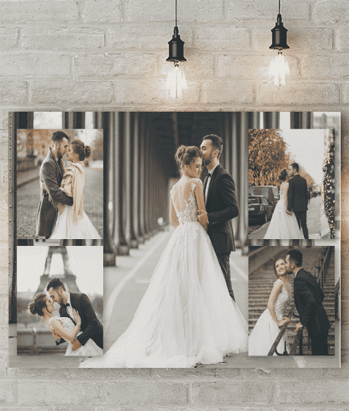 5 Photo Collage Canvas Print
