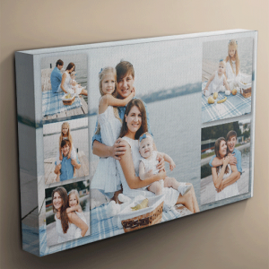 Photo Gifts 6 Photo Collage Canvas Print