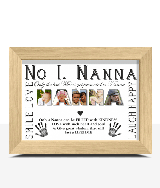 Gifts For Grandparents No 1 NANNA Personalised Photo Gift
