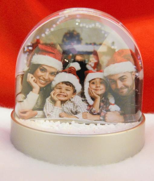 Christmas Photo Snow & Glitter Globes