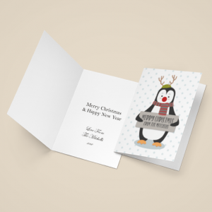 Personalised Penguin Christmas Cards