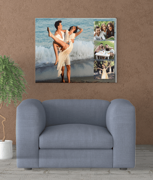 4 Photo Collage Canvas Print