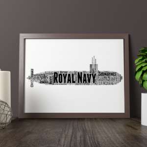 [tag] Personalised Royal Navy Submarine Word Art