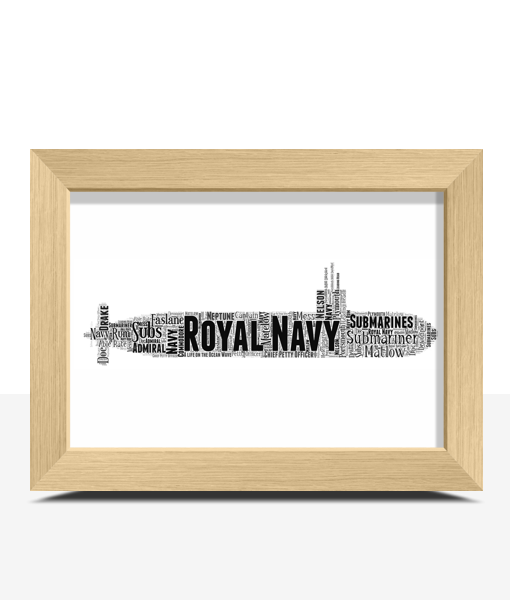 Personalised Royal Navy Submarine Word Art