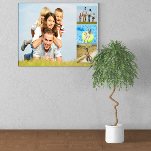 Gifts For Her 4 Photo Collage Canvas Print