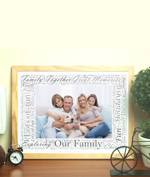 Word Art Photo Frame - Personalised Gift | ABC Prints