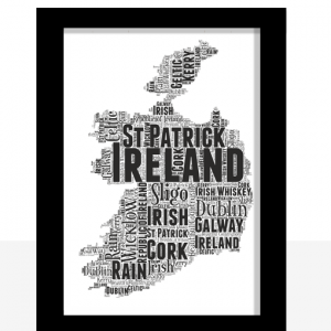 Travel Personalised Ireland Word Art Map